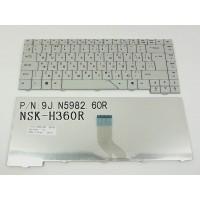 Клавіатура для ноутбука ACER (AS: 4210, 4310, 4430, 4510, 4710, 4910, 5220, 5300, 5520, 5700, 5900, 6920, 6935) rus, gray