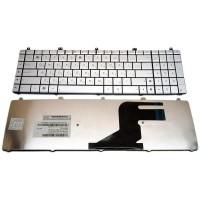 Клавиатура для ноутбука ASUS N55 RU Silver 0KNB0-7200RU00